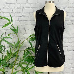 🎉Zynergy by Chico's Black w/ Silver Details Vest